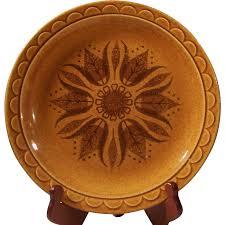 homer laughlin vintage vintage homer laughlin granada pottery golden harvest 10 1 4