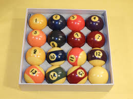 Vintage Pool Ball Set Except 8 Ball Retro Yellowing Older Pool