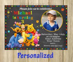 winnie the pooh invitation winnie the pooh birthday invite