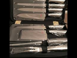 secondhand catering equipment chefs knives swisstech 9 piece