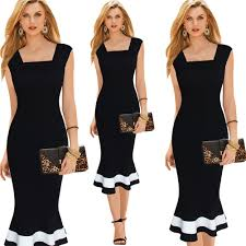 fashion women black color sleeveless cocktail party casual