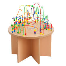 wooden bead toy table bead table bead maze table for kids and kinderspell