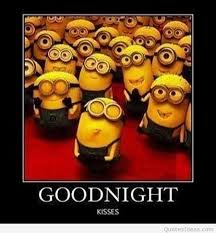 Funny Goodnight Memes - funny good night minion message meme