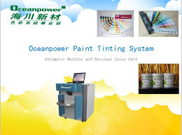 automatic paint color dispenser colorant tinting machine of paints