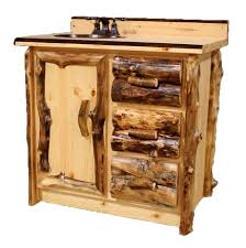Log Cabin Furniture Aspen Log Furniture Aspen Single Vanity With Copper Sink And
