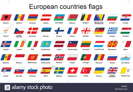 Flags Of Countries Set Of European Countries Flags Icons Stock Photo Royalty Free