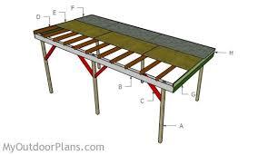 Car Port Plans Flat Roof Carport Plans Myoutdoorplans Free Woodworking Plans