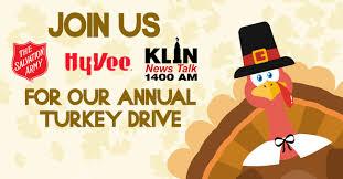 turkey drive to benefit the salvation army klin am