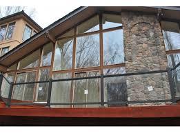 handrail glass deck railing kit 8 ft x 36 bronze