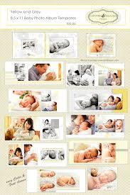8 5 x 11 photo album baby album yellow and grey 8 5 x 11 baby photo book album