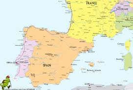 Where Is Italy On The Map by Map Of France Spain Portugal And Italy With A Greece Inset Within