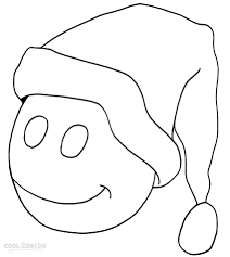 santa hat coloring pages printable santa hat coloring pages for