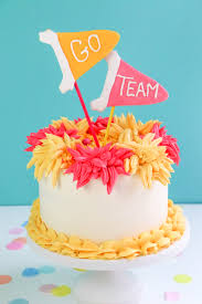 candy melts pom poms u0026 pennants cake