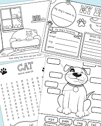 printable cat activity pack with games coloring pages and more