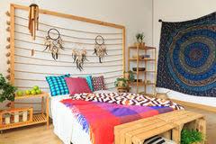 chambre style ethnique chambre à coucher avec la conception ethnique photo stock image du