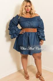 new plus size dress with attached belt denim u2013 chic and curvy
