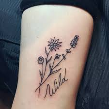 wild flowers on harriet barley little tattoos for men and women