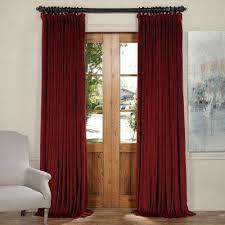 Burgundy Velvet Curtains Curtains Drapes Window Treatments The Home Depot