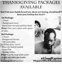 thanksgiving packages available don t let your family hound you