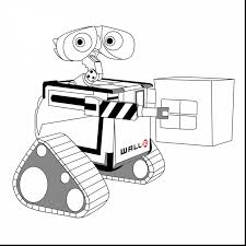 excellent printable robot coloring page with wall e coloring pages