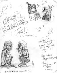 happy birthday irizzz loves drawing by witneus on deviantart