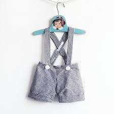 Easter Clothes For Baby Boy Baby Boy Gingham Shortalls Boys Wedding Ringbearer Dress