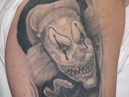 14 scary clown tattoo designs creepy jester tattoos pinterest