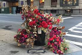 flowers nyc new york city receives floral thank you installations unrated