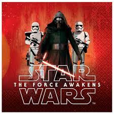 star wars 7 force awakens lunch napkins 16 birthdayexpress