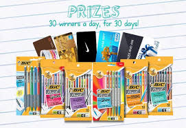 instant win gift cards bic pencil instant win win gift card and 5 packs of pencils
