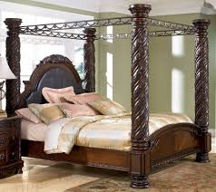 North Shore California King Size Poster Canopy Bed From Millennium - California king size canopy bedroom sets