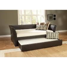 Daybed With Trundle Bed Hillsdale Furniture Malibu Brown Trundle Day Bed 1519dbt The