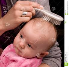 baby hair combing baby hair royalty free stock images image 10971189