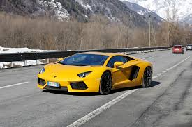 lamborghini aventador on the road lamborghini aventador road trip a bull for all seasons motor trend