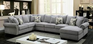 Gray Nailhead Sofa 3 Pc Skyler Collection Gray