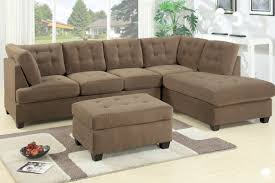 Sectional Sofa With Chaise Amazon Com 2 Pc Truffle Waffle Suede Fabric Upholstered
