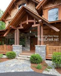 MossCreek Luxury Log And Timber Frame Homes My House Pinterest - Rustic home designs