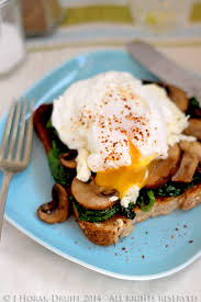 boursin cuisine light poached eggs spinach boursin mushrooms on toast cooksister