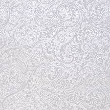 silver wrapping paper white silver paisley foil roll wrap
