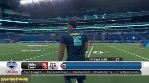 myles garett 2017 nfl combine 40 yard dash u0026 all drills nfl