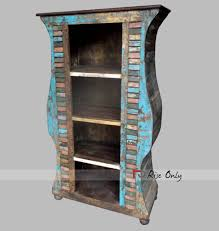 Recycled Timber Bookshelf Bookcase From Recycled Material Reclaimed Bookcases Of Timber