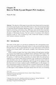 how to write paper abstract how to write up and report pls analyses springer handbook of partial least squares handbook of partial least squares