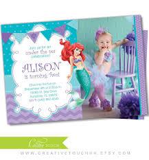 little mermaid invitation little mermaid invite by creativetouchhh