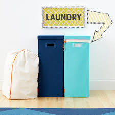 Laundry Hampers Online by Aqua Poppin Laundry Hamper With Lid The Container Store