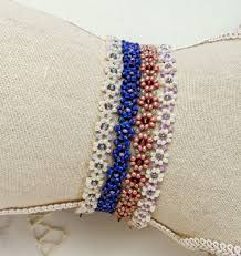free beaded bracelet pattern images Free bead patterns and ideas daisy chain necklace or bracelet jpg