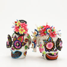 day of the dead cake toppers skull wedding cake toppers