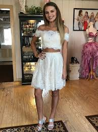 white lace dress buy two the shoulder white lace homecoming dress special