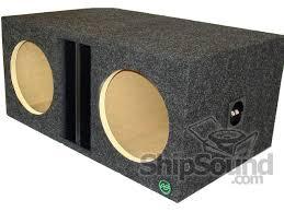 jl audi audio enhancers 1v213d dual 13 jl audio w1v2 slot ported sub box