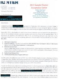 How Does College Acceptance Letter Look Like Kweller Prep Nyc Middle School High School And College
