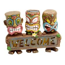 10 25 tiki solar light welcome statue tree shops